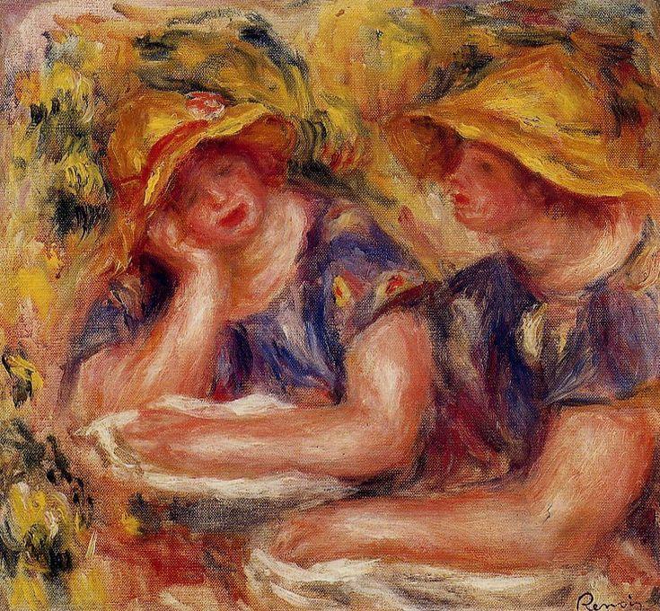 Two Women in Blue Blouses - Renoir Pierre-Auguste
