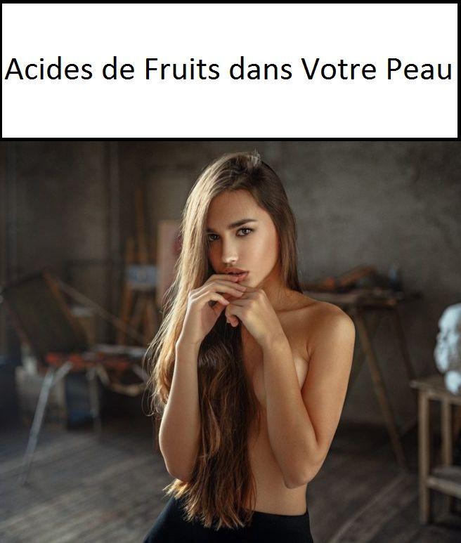 Comme leur nom l'indique, les acides de fruits sont des dérivés de sucres de fruits dits AHA (acides alpha-hydroxylés) ou BHA (béta-hydroxylés). Le plus utilisé par les dermatologues et le plus efficace est l'acide glycolique, issu du raisin, de la betterave ou de la canne à sucre.