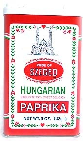 The famous Paprika of Szeged.My house is never without it.