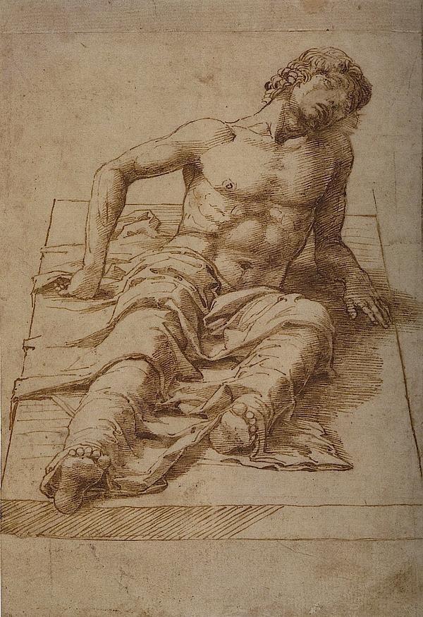 Andrea Mantegna Studio per una resurrezione di Cristo 1475-85