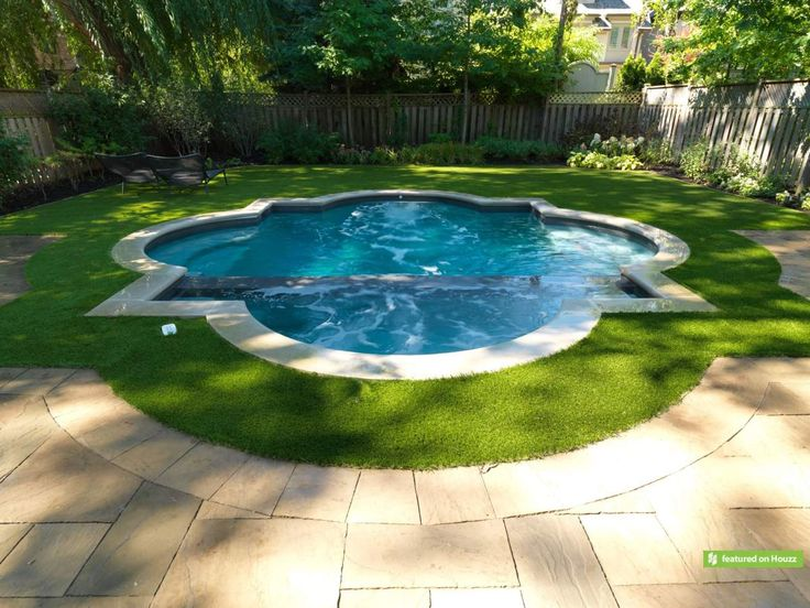 This Suburban Toronto Family Had A Small Backyard Which They Outfitted For Recreation And Entertaining The Foc Small Pools Geometric Pool Small Backyard Pools