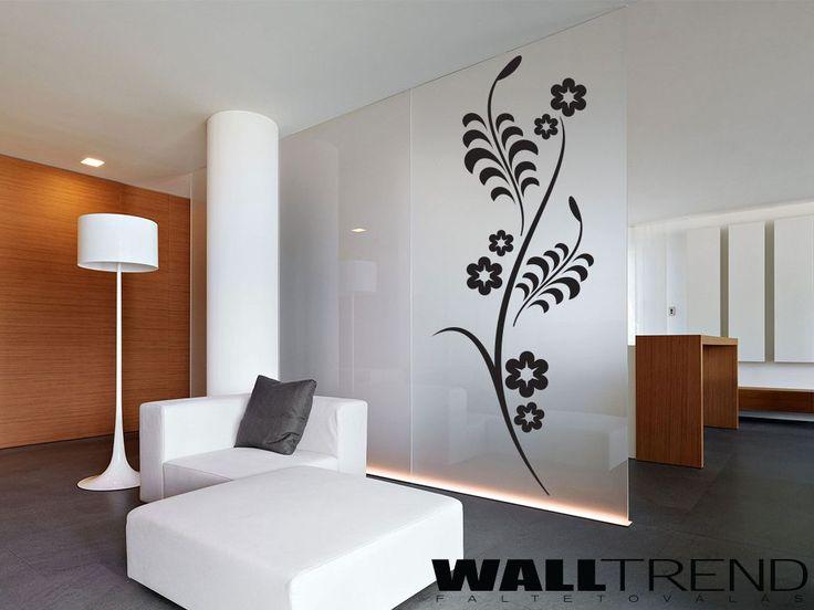 W 0113 Kígyózó virágminta faltetoválás - WALLtrend - faltetoválás, falmatrica, faldekoráció