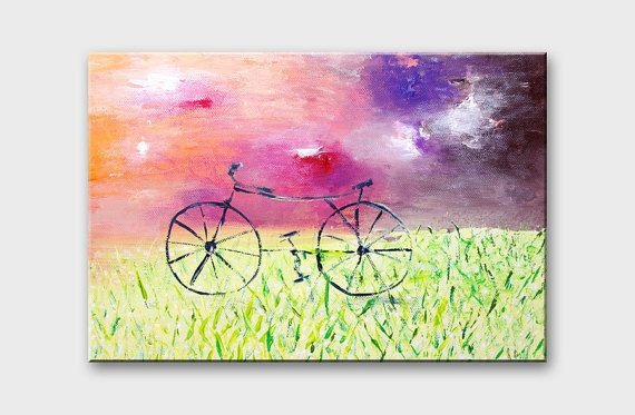 Bicycle wall art Bike canvas Bicycle canvas art by artbyasta