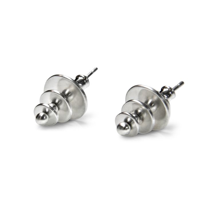 """Stud earrings -""""Mille pattes collection""""- 2010 - sterling silver by Julie Nicaisse Jewellery www.julienicaisse.com"""