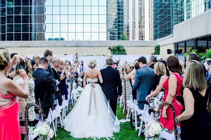 Wedding Aisle on our Terrace