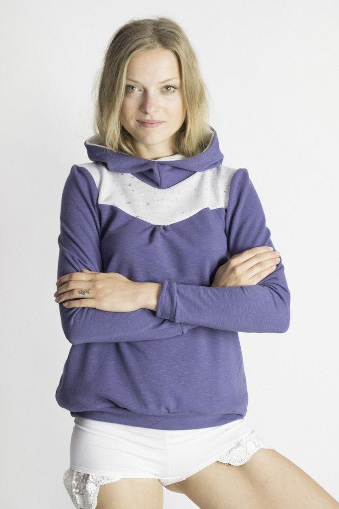 Cozy up hoody in dark Lavender