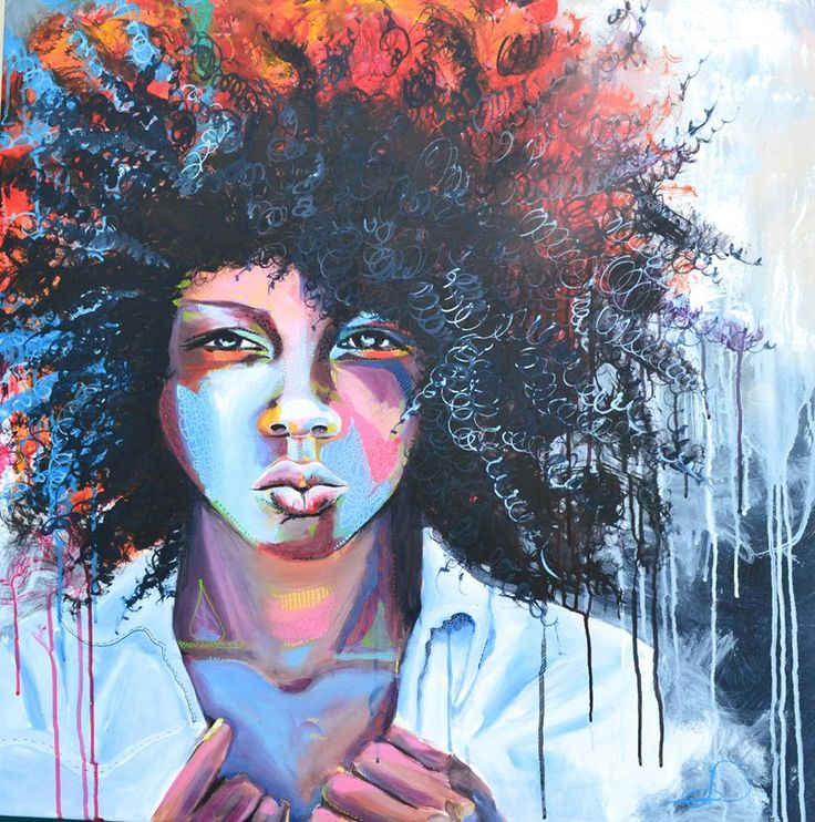 Twist out 80X80 cm. Acrylic on canvas. Made by Naja Duarte. (SOLD)