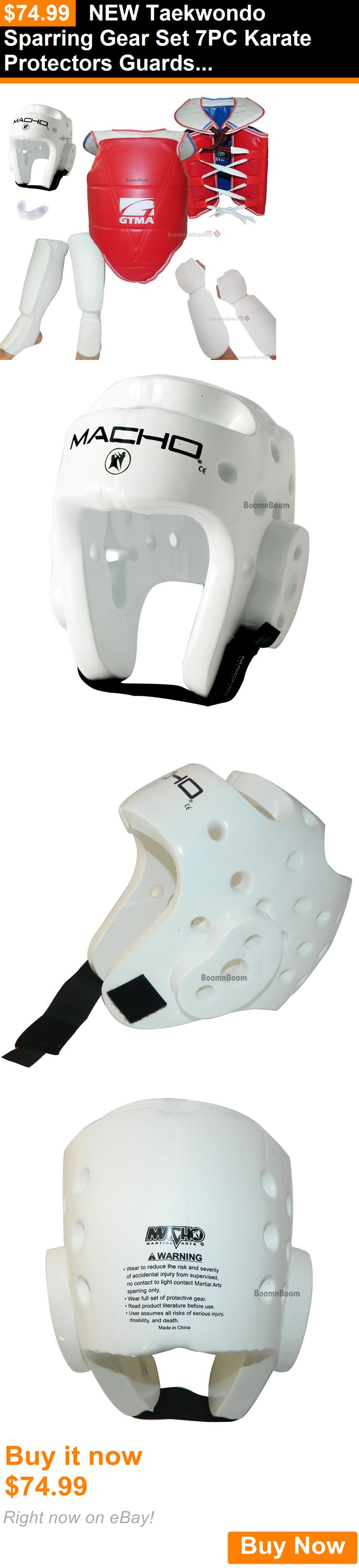 Other Combat Sport Protection 179783: New Taekwondo Sparring Gear Set 7Pc Karate Protectors Guards Hogu Basic Full Set BUY IT NOW ONLY: $74.99