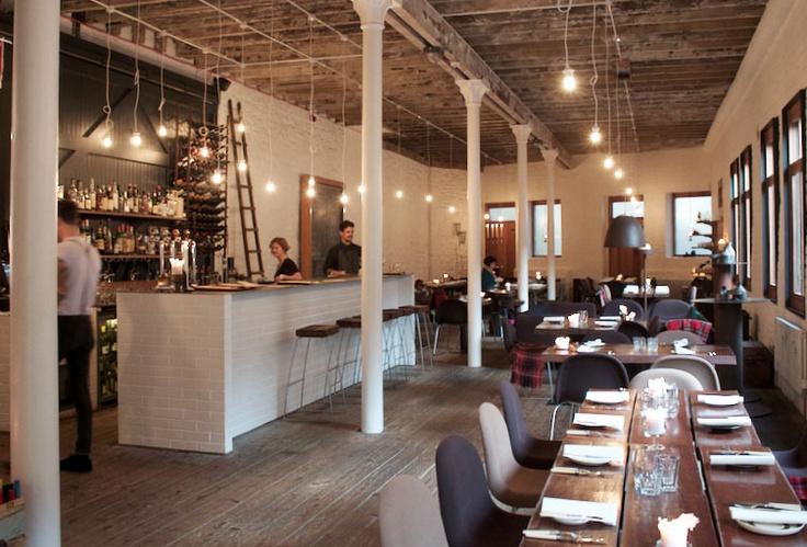 Timberyard restaurant , Edinburgh warehouse