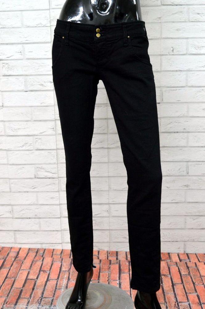 Pantalone CYCLE Donna Taglia 31 Woman Jeans Cotone Skinny Nero Elastico ca174112376