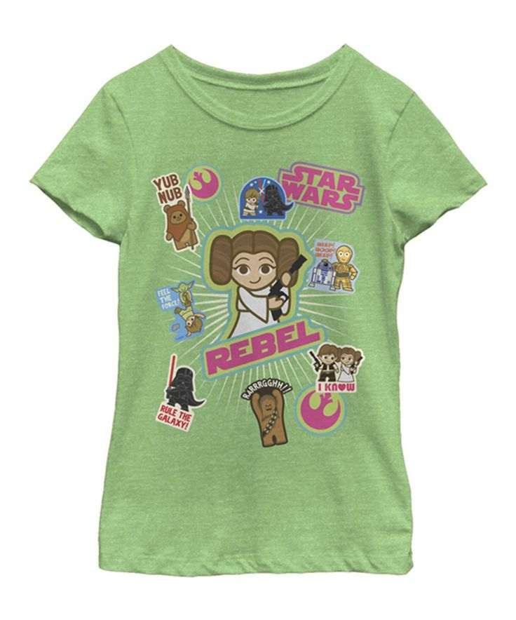 Take a look at this Star Wars Green Apple Sticker Tee - Girls today!