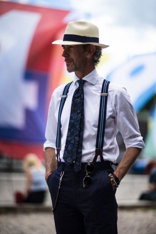 Mens Cotton Pocket Square - Brown with blue hats by VIDA VIDA MRo8F8