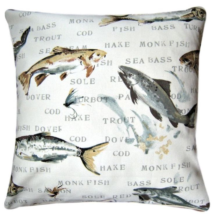 """Cushion Cover Made With Prestigious Fly Fishing 16"""" Father's Day Gift Scatter Perfect father's day gift"""