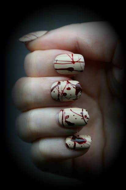 Zombies!: Nails Art, True Blood, Nails Design, Zombies Walks, Splatter Nails, Nails Polish, Zombies Nails, Bloody Nails, Halloween Nails