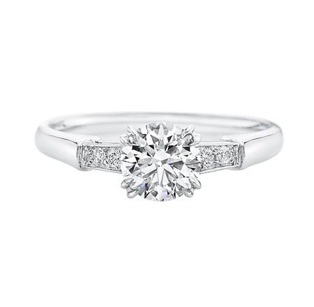 Tryst, Round Brilliant Diamond Engagement Ring