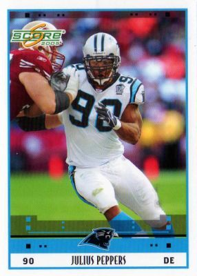 julius peppers panthers football card | PANTHERS - Julius Peppers #39 SCORE 2005 NFL American Football ...