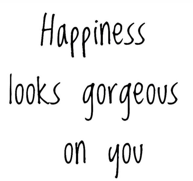 Whatever you wear, happiness looks georgeous on you!