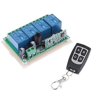 Module de relais de l'alimentation à distance 12V 4 canaux sans fil avec télécommande (DC28V-AC250V) - EUR € 14.69
