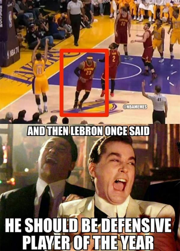 LeBron James' Defensive Ways! #Cavs - http://nbafunnymeme.com/nba-memes/lebron-james-defensive-ways-cavs