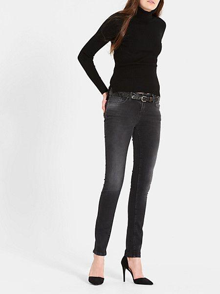 skinny jeans zwartuseddark