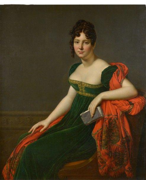 Anne-Louis Girodet-Trioson (1767-1824), Portrait de Madame Augustine Bertin de Veaux, huile sur toile, 119 x 99 cm. Adjugé : 447 300 € Lundi 7 novembre, salle 2, et mardi 8 novembre, salle 1-7 Drouot-Richelieu. Lasseron & Associés OVV. Mme de La Chevardière, MM. Bacot, de Lencquesaing, de Bayser, de Broglie, Froissart, Cabinet Turquin.