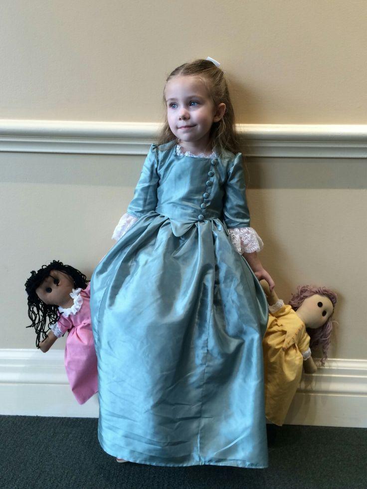 Schuyler sister costume and dolls (Eliza Hamilton)