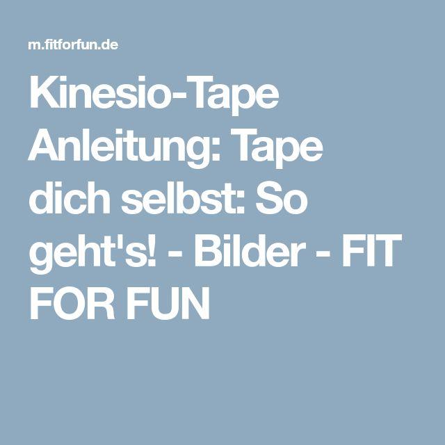 Kinesio-Tape Anleitung: Tape dich selbst: So geht's! - Bilder - FIT FOR FUN