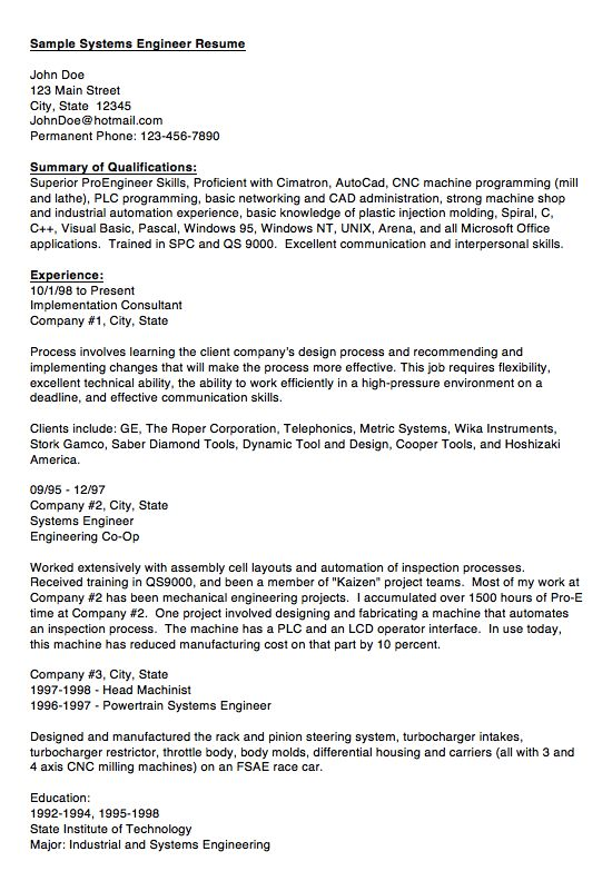 10 best Engineering Resumes images on Pinterest Cool resumes - engineer job description