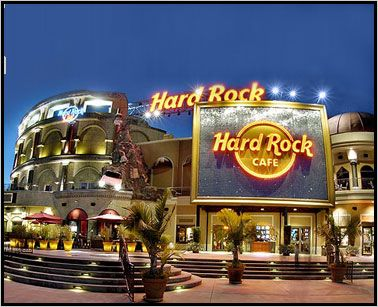 Hard Rock Cafe Orlando. Located in Universal Studios Orlando in the CityWalk