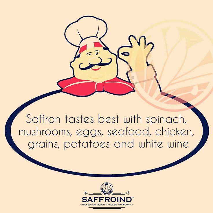 Saffron tastes best with spinach, mushrooms, eggs, seafood, chicken, grains, potatoes and white wine. So don't forget to add a small tinge the next time you cook with these ingredients. #ingredients #Chef #ChefTip #cookingfun #cookwithlove #cook #cookingtime #cookingtips #cookingtherapy #cheftips #saffron #kesar #zafran #buysaffron #online #ordertoday #besttaste #flavor #quality #qualityingredients #cookingclass #cookingwithlove #cookingathome