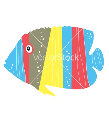 Tropical fish vector on VectorStock®