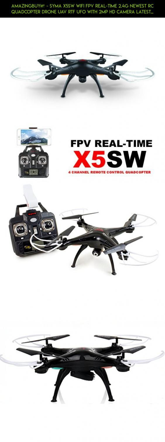 Amazingbuy® - Syma X5SW Wifi FPV Real-time 2.4G Newest RC Quadcopter Drone UAV RTF UFO with 2MP HD Camera Latest Version - Original packing gift Box + 4 extra main propellers + 1 Mobile phone holder + Tracking Number - Black color - With Amazingbuy LOGO #2.4g #syma #control #wi-fi #gadgets #drone #racing #x5sw #parts #shopping #camera #remote #quadcopter #technology #with #kit #products #tech #plans #camera #fpv