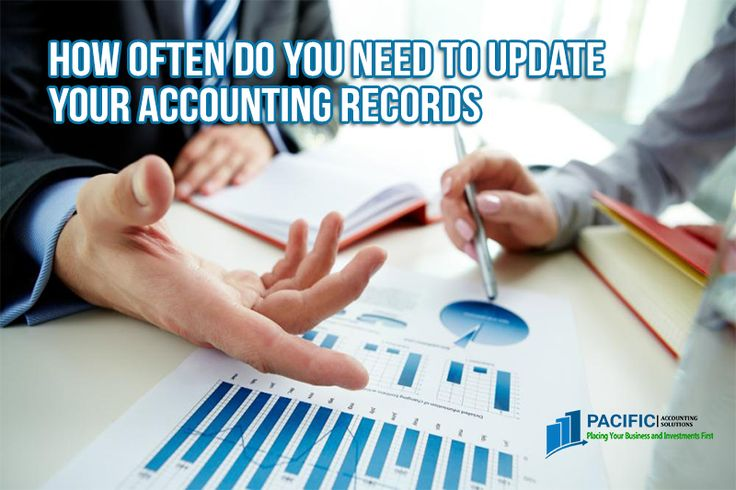 Computerized systems, cloud computing, and outsourcing can even automate your accounting process ensuring that your accounting data and records are updated regularly, as often as once per hour.