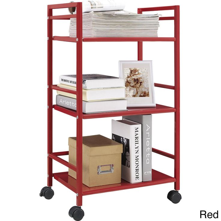 altra marshall 3shelf rolling utility cart