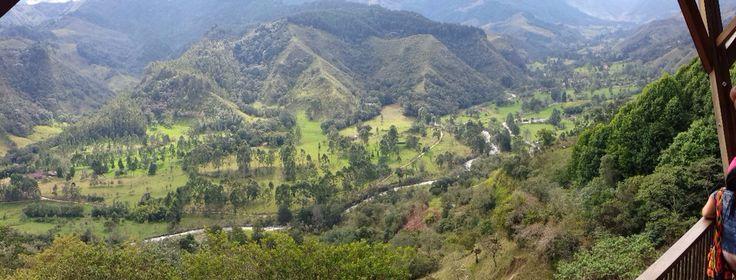 Mirador Salento al valle del cócora