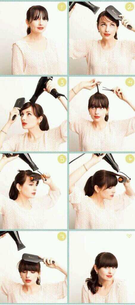 ぱっつん前髪の整え方