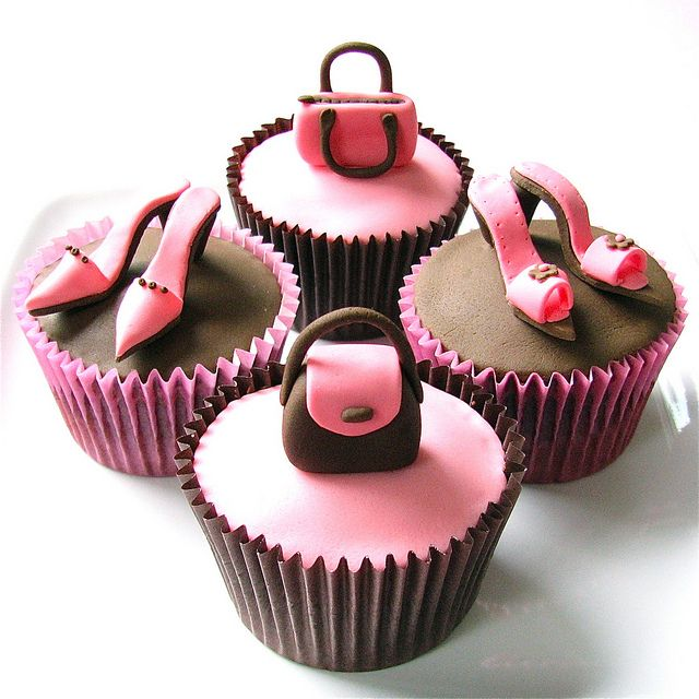 Handbags and Shoes Cupcakes by gilly.flower / Gill Smith, via Flickr