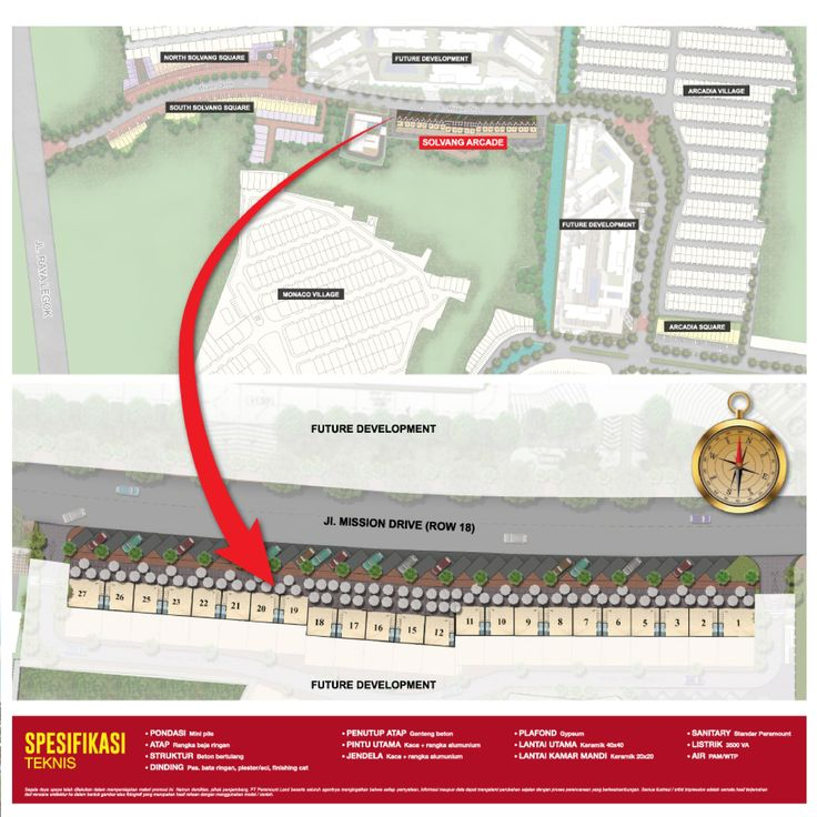 Site plan lokasi ruko Solvang Arcade Gading Serpong