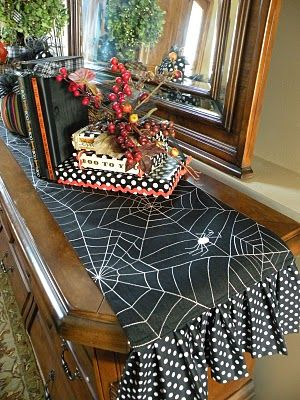 not a fan of table runners--but this is the cutest Halloween  runner I have ever seen