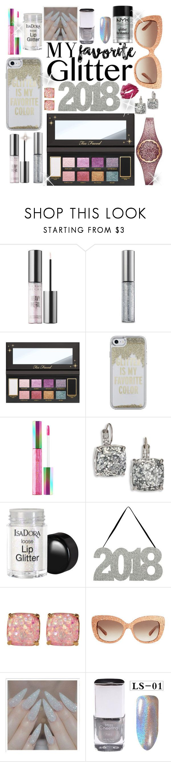 """""""#PolyPresents: Sparkly Beauty"""" by dobesht ❤ liked on Polyvore featuring beauty, Urban Decay, Kate Spade, Puma, NYX, contestentry and polyPresents"""