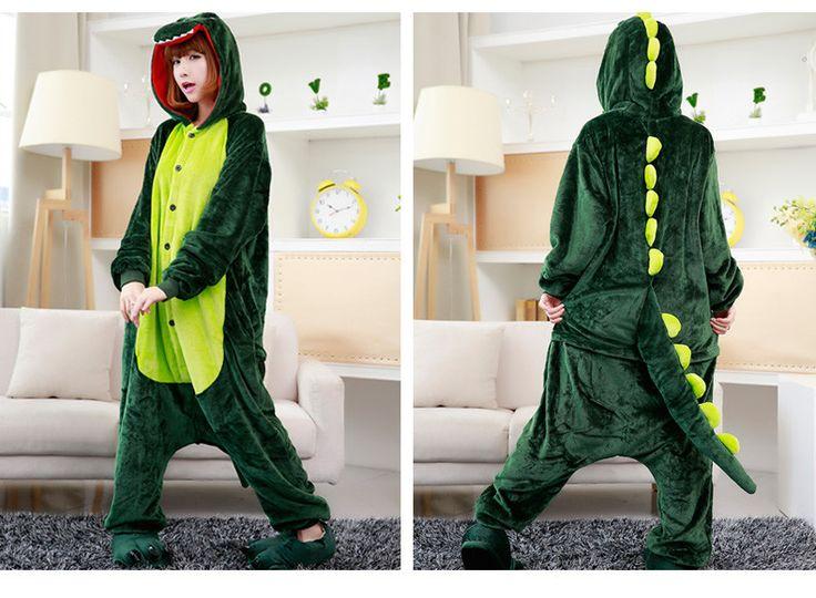 Dinosaur T-Rex Adult Pajama Hooded Onesie