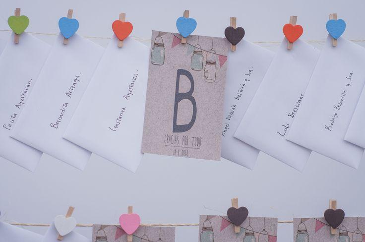 Tarjetas de agradecimiento a los invitados / Thank You Cards