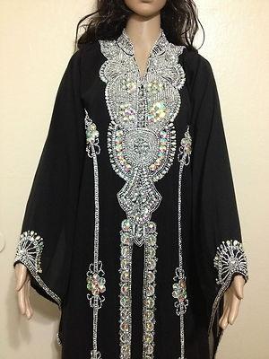 Arab black dress