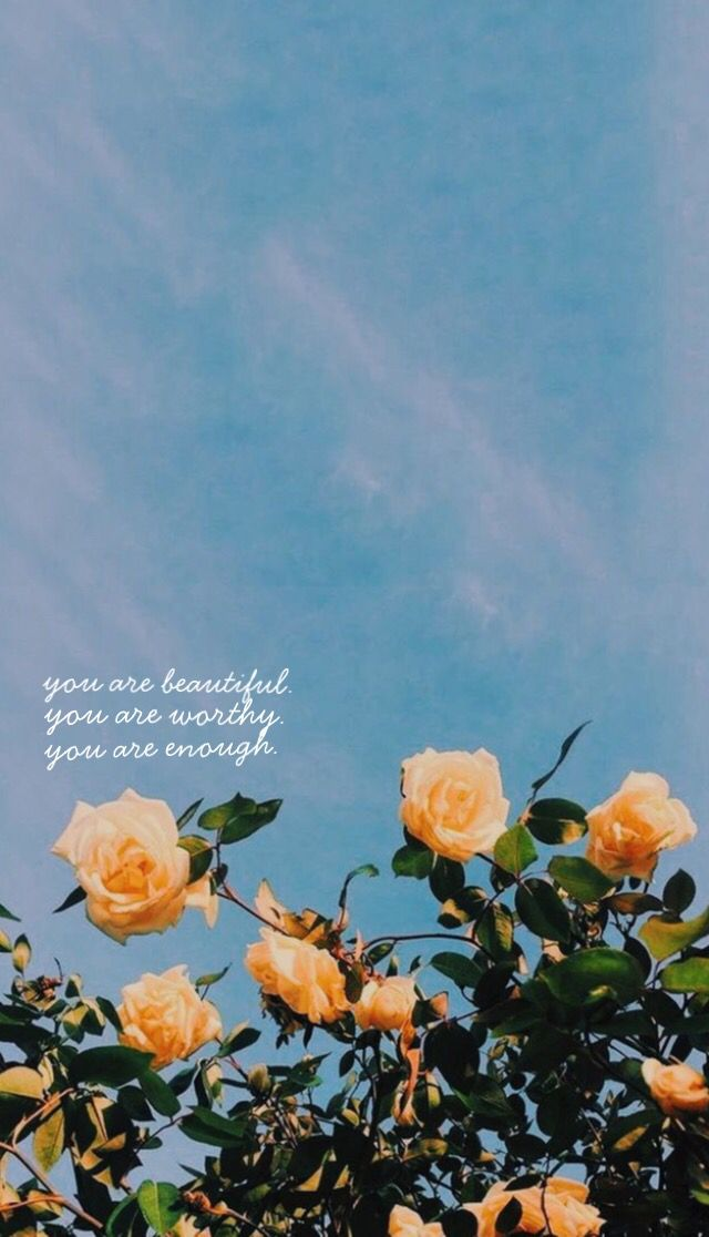 you are enough aesthetic iphone wallpaper flower aesthetic summer wallpaper aesthetic iphone wallpaper flower