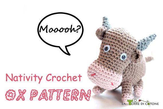Nativity crochet: ox pattern