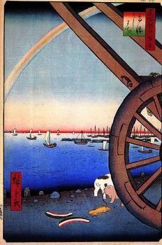 歌川広重 Hiroshige Utagawa 名所江戸百景「高輪・牛まち」