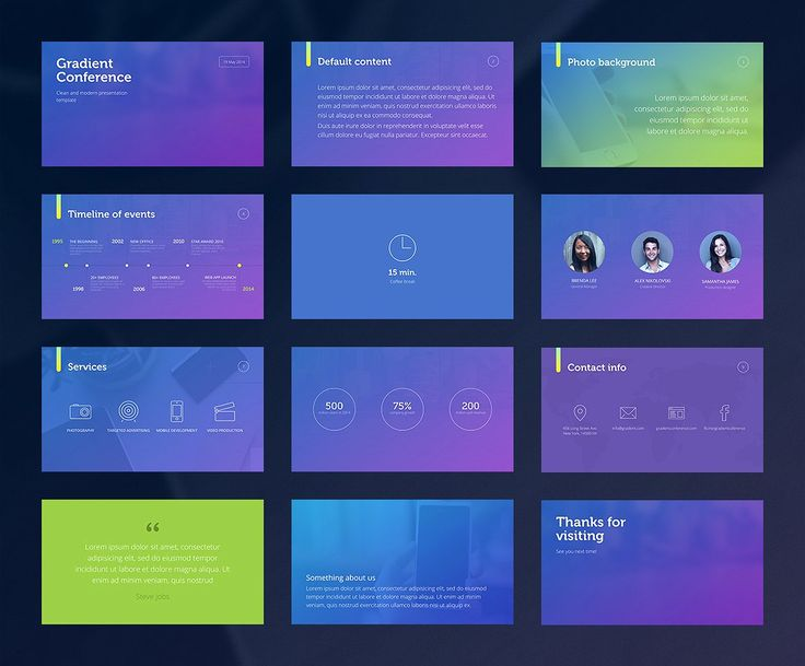 Gradient Presentation Template - Presentations - 2