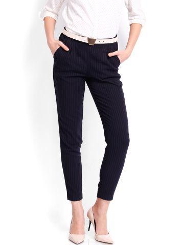 Vero Moda Women Black Striped Trousers