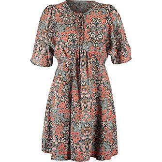 Millie Mackintosh Coral & Blue Ditsy Floral Tea Dress