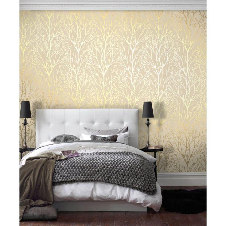 I Love Wallpaper™ Shimmer Wallpaper Metallic Gold / Cream (ILW980005) - I Love Wallpaper™ from I love wallpaper UK